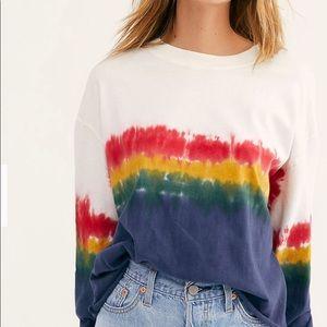 Daydreamer Free People Women L/S Tie Dye Medium M